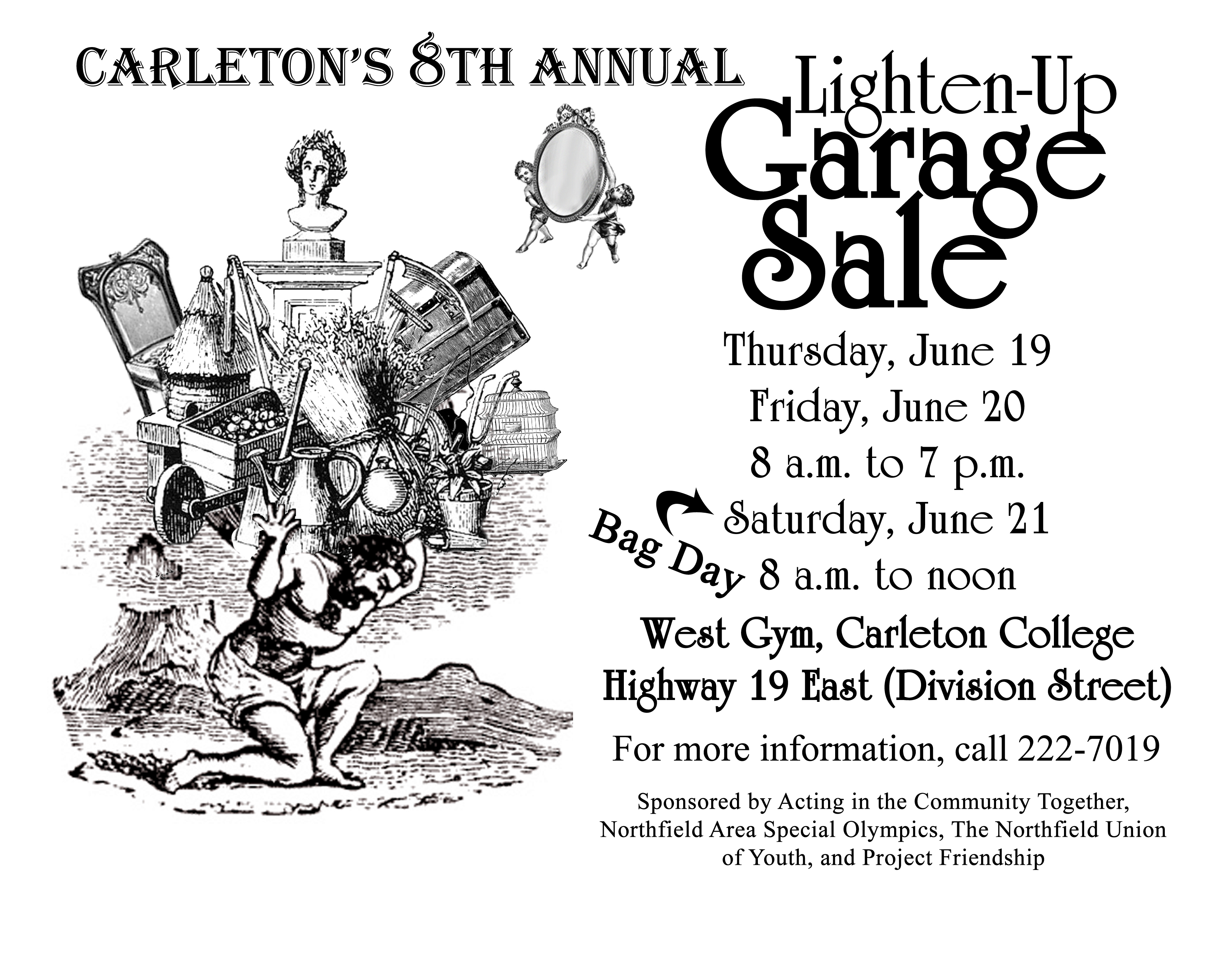 Time To Garage Sale It Up Northfield Union Of Youth